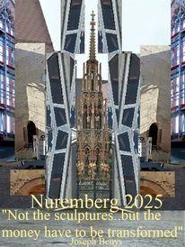 Nürnberg 2025, Skulptur, Kulturhauptstadt, Geld