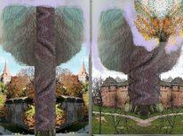 Collage, Malerei, Fotografie, Zeichnung