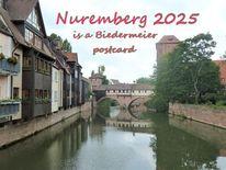 Nürnberg 2925, Biedermeier, Postkarte, Bewerbung