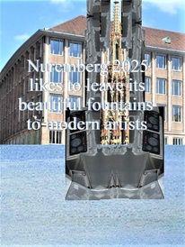 Anvertrauen, Botschaft, Moderne kunst, Nuremberg 2025