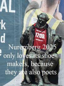 Dichter, Bewerbung, Skulptur, Nürnberg 2025