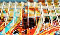 Projektion, Architektur, Blaue nacht, Neues rathaus