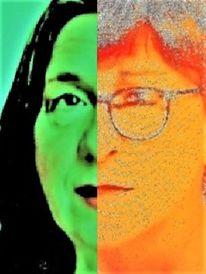 Menschen, Koalition, Rot, Frau
