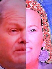 Frau, Kopf, Politiker, Farben