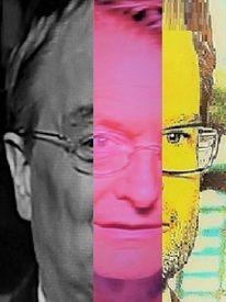 Mann, Politische farbenlehre, Gesicht, Kopf