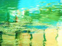 Spiegelung, Fluss, Farben, Donau