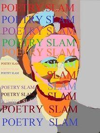 Buchstaben, Portrait, Plakatkunst, Poesie