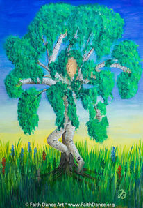 Baum, Birken, Selbstportrait, Tanz