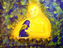 Jesus, Licht, Abstrakt, Trost