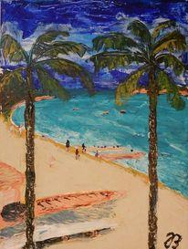 Boot, Urlaub, Palmen, Entspannung
