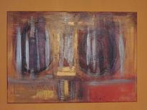 Acrylmalerei, Kraftvoll, Malerei, Abstrakte kunst