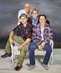 Haufen, Portrait, Bunt, Malerei