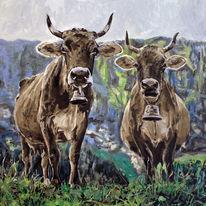Kuh 418 bilder und ideen auf kunstnet tiere malerei - Kuh bilder auf leinwand ...
