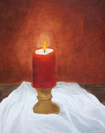 Tischtuch, Stillleben, Kerzen, Leuchten