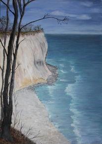 Ostseeküste felsen brandung, Strand, Malerei, Rügen
