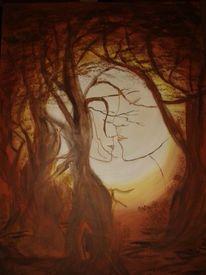 Mann, Ewigkeit, Leuchten strahlen, Baum