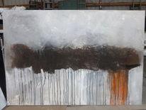 Gewitterwolke und regen, Malerei