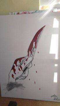 Pinsel, Kunsthandwerk, Blut, Acrylmalerei