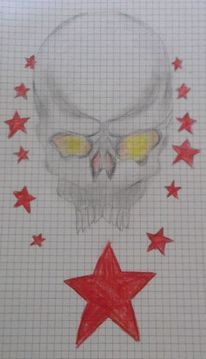 Rot, Stern, Zeichnungen,