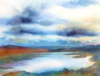 Isle, Schottland, Aquarellmalerei, Isle of skye