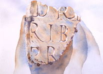 Römer, Aquarellmalerei, Schrift watercolor, Rom