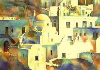 Παναγίας, Griechenland, Παραπορτιανι, Aquarellmalerei