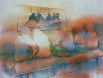 Austellung, Ausstellung, Aquarellmalerei, On exhibition
