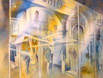 Italien, Aquarellmalerei, Geschenk, Vicenza