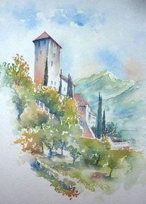 Südtirol, Landschaft, Schloss, Italien