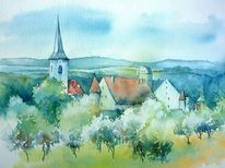 Aquarellmalerei, Oberfranken, Seßlach, Coburg