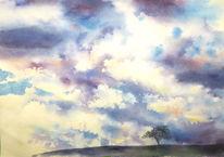 Aquarellmalerei, Himmel, Aquarell,