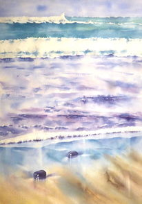 Teneriffa, Ozean, Aquarellmalerei, Insel