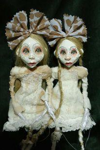 Puppe, Schwestern, Zwillinge, Art doll