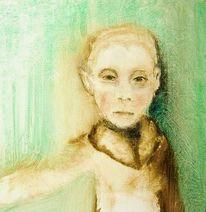 Junge, Malerei, Kindheit, Menschen
