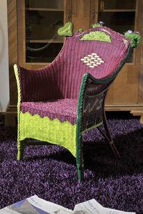 Fröhlichkeit, Stuhl, Korbstuhl, Kunsthandwerk