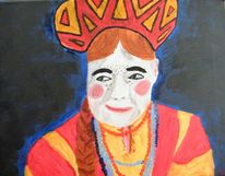 Frau, Acrylmalerei, Russisch, Malerei