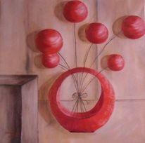 Wohnung, Beige, Rot, Dekoration