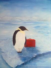 Bus, Pinguin, Kalt, Malerei