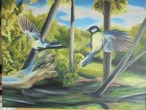 Vogel, Stein, Natur, Landschaft