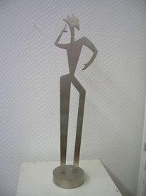 Skulptur edelstahl, Plastik, Gegenständlich, Tänzer