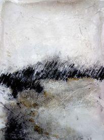 Modern, Abstrakt, Kohlezeichnung, Licht