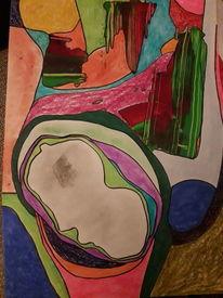 Schwangerschaft, Bunt, Malerei,
