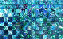 Fotografie, Struktur, Blau, Schachbrett