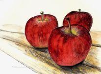 Apfel, Obst, Mischtechnik