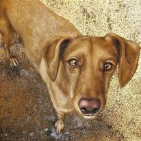 Blattgold, Portrait, Hund, Malerei