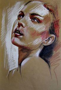 Pastellmalerei, Pastellskizze, Portrait, Zeichnungen