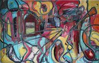 Experimentelle malerei, Malerei, 2015