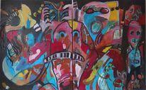 Experimentelle malerei, Malerei, 2014