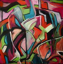 Zorn, Gefahr, Experimentelle malerei, Malerei