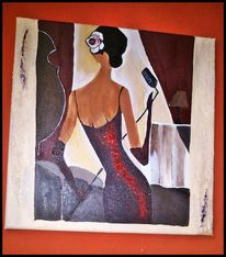 Malerei, Sängerin